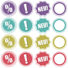 Buttons, Störer, Info