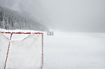 Pond Hockey Lake Louise, Albeta Canada