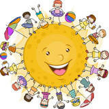 Kids Surrounding the Sun
