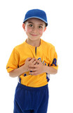 Little boy t-ball baseball player