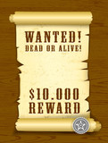 Poster Wanted dead or alive poster