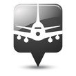 Symbole glossy vectoriel avion 02