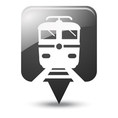 Symbole glossy vectoriel train 02