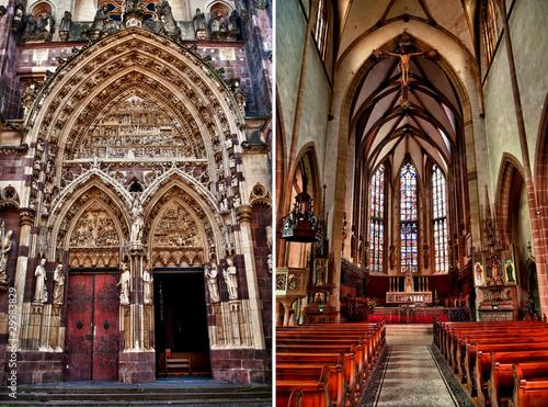 Eglise gothique de la ville de thann alsace fr de for Piscine thann horaire