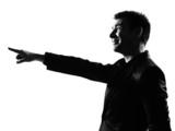 silhouette  man pointing mocking sneering poster