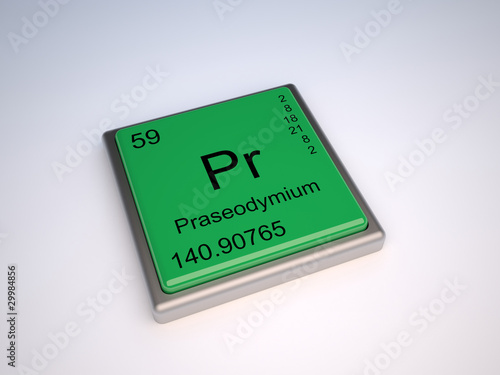 Praseodymium (PR) chemical element of the periodic table