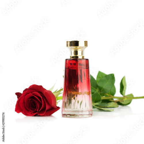 rose and Perfume bottle