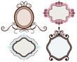 Vintage floral frame collection, vector illustration