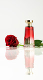 Red rose and Perfume bottle