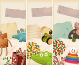 Toys, candy & childhood memories -  banners poster