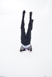 Businessman doing a handstand