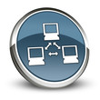 "Dark Blue 3D Style Icon ""Network"""