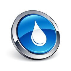 icône bouton internet goutte eau