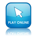 PLAY ONLINE Web Button (video games gamepad go entertainment) poster