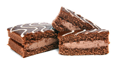 chocolate pastry with cream