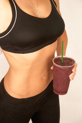 Girl with Purple Smoothie