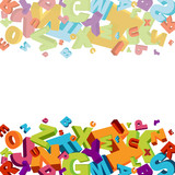 Fototapety abstract vector numbers background