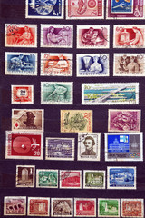 Used stamps from communist Hungary