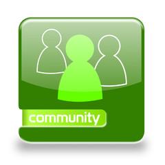 Button spare Community grün