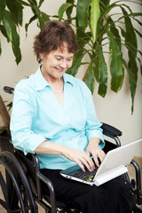 Disabled Woman with Laptop