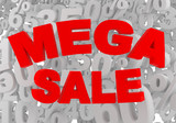 mega sale sign poster