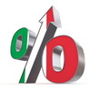 Shiny Percentage Sign Up - Flag of Italy