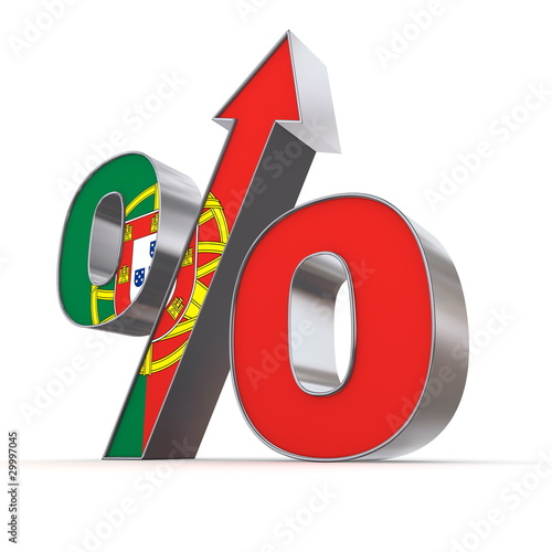 Shiny Percentage Sign Up - Flag of Portugal