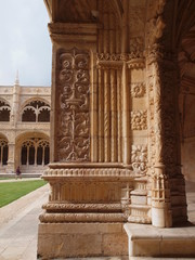 Cloister of Jerònimos Monastery, decorative detail.
