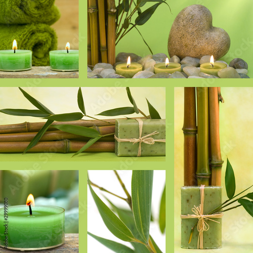 Fototapeten,collage,wellness,kerze,parfuem