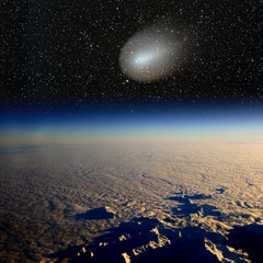 Comet impact on Earth. Real photographs.