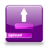 Button spare Upload lila
