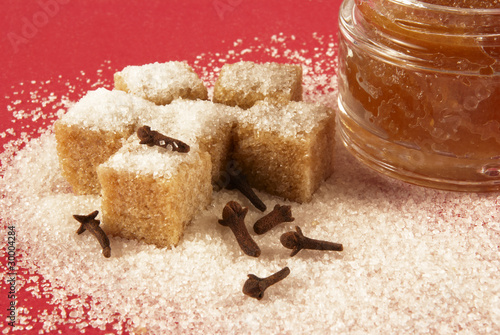 Body scrub with brown sugar,spiciness l