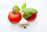 Tomato, mint and garlic