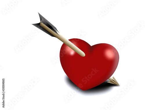 Heart pierced by an arrow