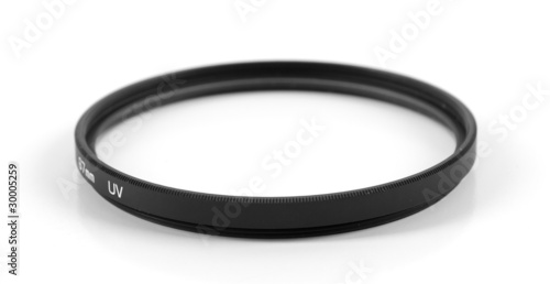UV photo filter isolated on white background