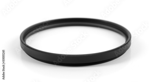 black photo filter isolated on white background
