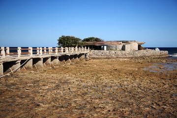 Old concrete pier in Cuba