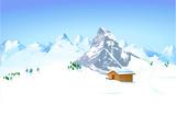 Berghütte in den Bergen