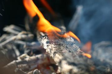 charcoals fire