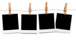 canvas print picture - Blank polaroid photo frames on line