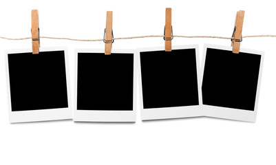 Blank polaroid photo frames on line