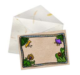 Postal con borde florido 1