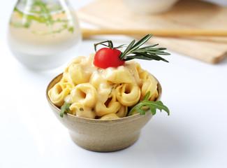 Tortellini and sauce