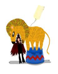 domador y leon