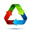 recyclage flèche