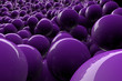 Abstract 3d purple spheres