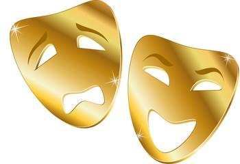 Comedy & tragedy mask