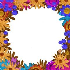 Marco florido de papel