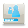 Button spare Support grau hellblau