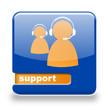 Button spare Support blau orange